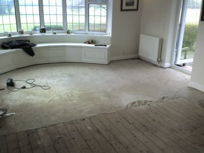 lounge wooden floor refurbishment