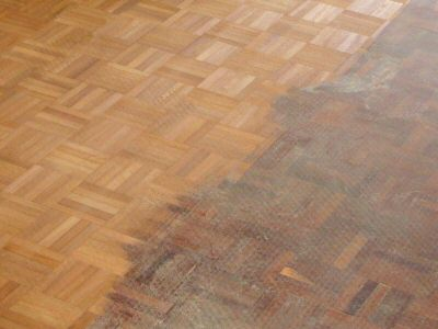 Wooden Floor Refurbishment - Sanding Part Done