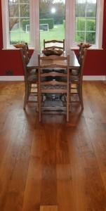 Hardwood floor dining room